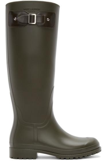 Saint Laurent - Green Rubber Festival Boots