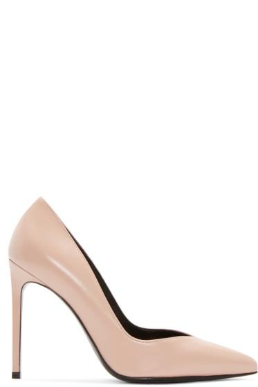 Saint Laurent - Pink Leather Paris Skinny Pumps