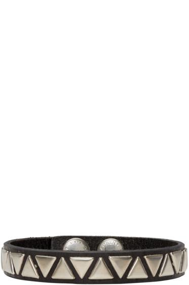 Saint Laurent - Black Leather Studded Bracelet