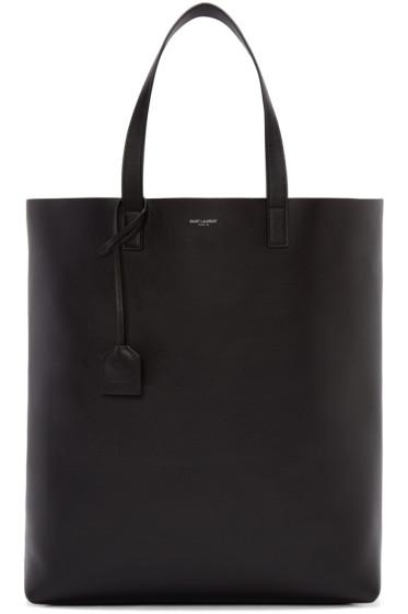 Saint Laurent - Black Leather Tote Bag