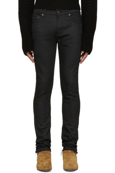 Saint Laurent - Black Raw Edge Skinny Jeans