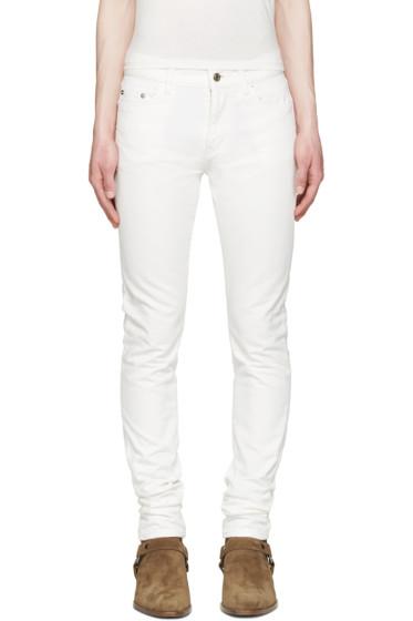 Saint Laurent - White Skinny Jeans