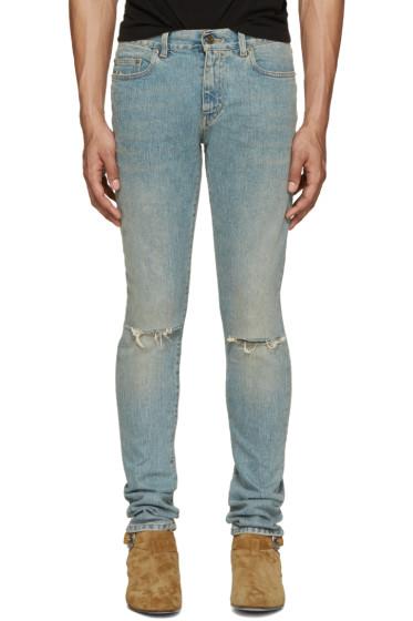 Saint Laurent - Blue Skinny Original Vintage Jeans