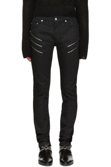 Saint Laurent - Black Skinny Zip Jeans