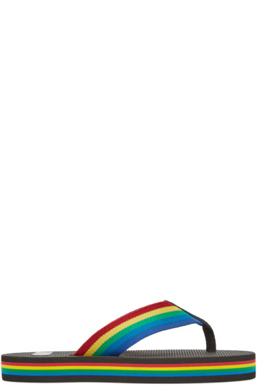 Saint Laurent - Black Rainbow Nu Pied Sandals