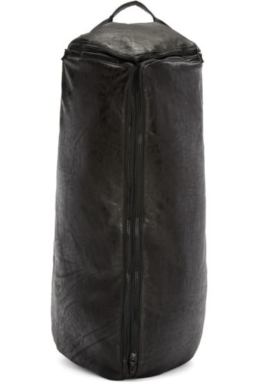 Julius - Black Nubuck Leather Pyramidal Backpack