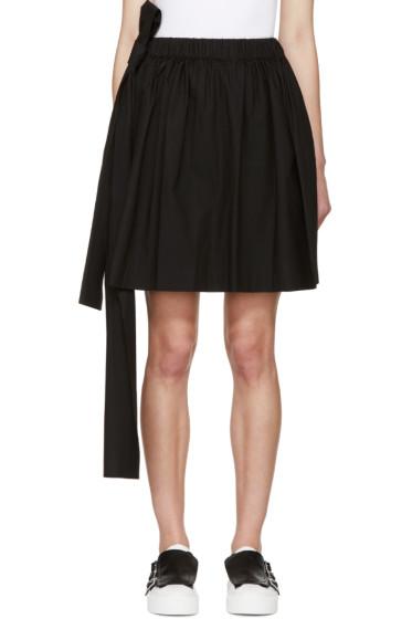 MSGM - Black Poplin Bow Miniskirt