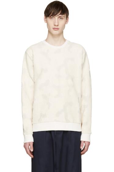 MSGM - Beige Textured Camouflage Pullover