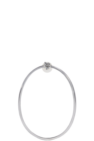 Delfina Delettrez - White Gold Medium Ear-Clipse Earring