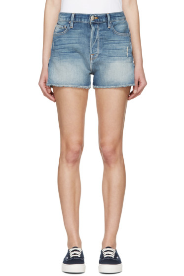 Frame Denim - Blue Denim Le Original Shorts