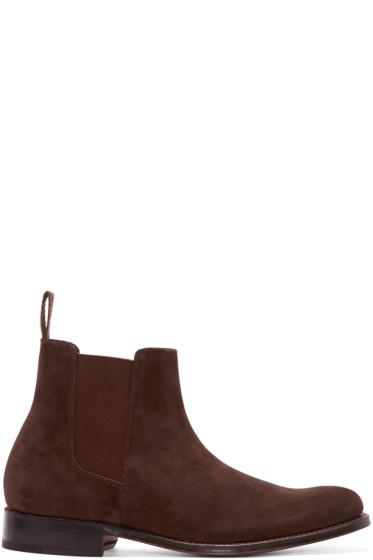 Grenson - Brown Suede Declan Boots