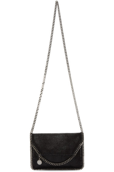 Stella McCartney - Black Tiny Falabella Shaggy Deer Bag