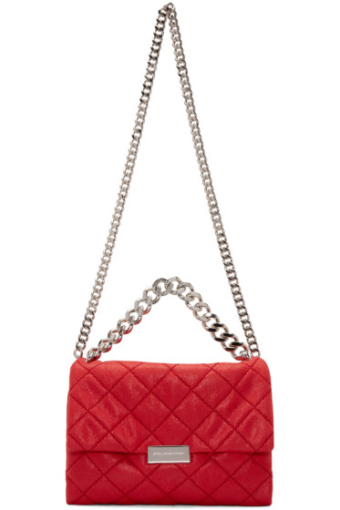 Stella McCartney - Red Medium Falabella Shaggy Deer Beckett Bag