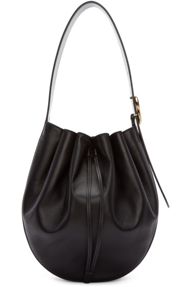 Stella McCartney - Black Round Large Bag
