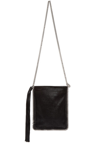 Stella McCartney - Black Tassel Falabella Shaggy Deer Bag