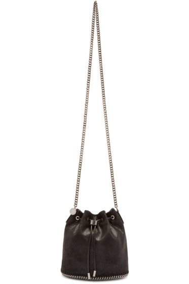 Stella McCartney - Black Falabella Shaggy Deer Bucket Bag