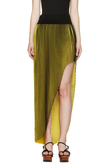 Stella McCartney - Black & Yellow Pleated Jeanne Skirt
