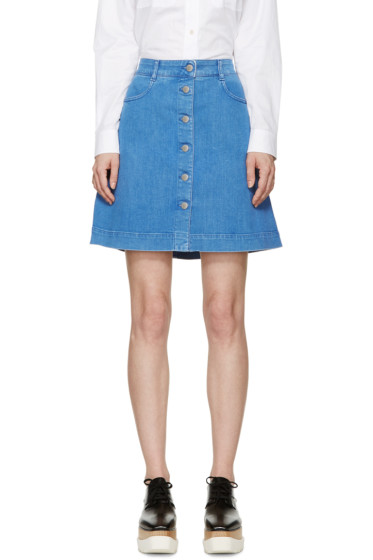 Stella McCartney - Blue Denim Miniskirt