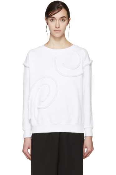 Stella McCartney - White Fringed Swirl Pullover