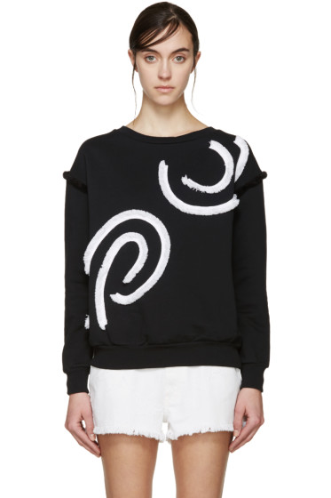 Stella McCartney - Black & White Fringed Swirl Pullover