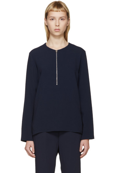 Stella McCartney - Navy Zippered Arlesa Blouse
