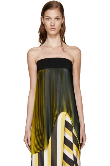 Stella McCartney - Black & Yellow Pleated Top