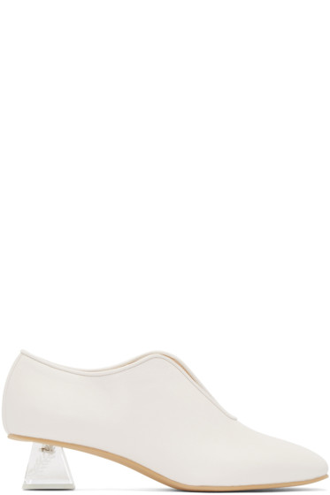 Stella McCartney - White Perspex Heeled Open Loafers
