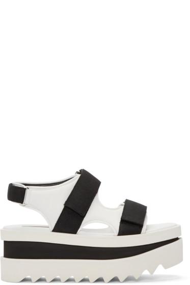 Stella McCartney - White & Black Platform Velcro Sandal