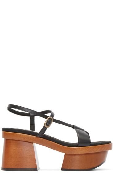 Stella McCartney - Black Wood Platform Sandals