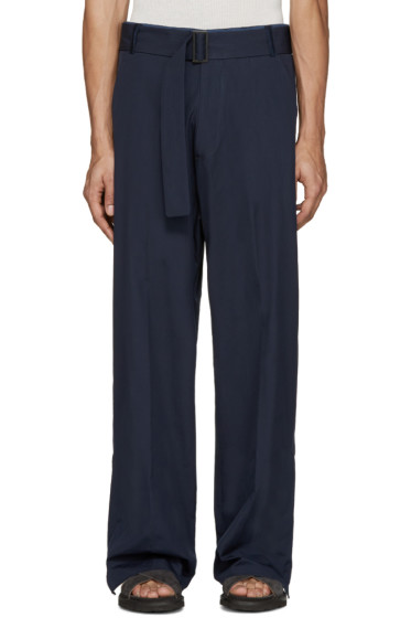 Umit Benan - Navy Belted Baggy Trousers