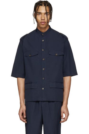Umit Benan - Navy Cuban Military Shirt