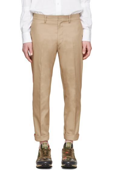 Valentino - Tan & Orange Stripe Trousers