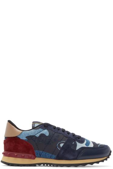 Valentino - Blue Denim Camo Sneakers