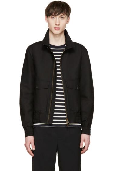 AMI Alexandre Mattiussi - Black Stand Collar Bomber Jacket
