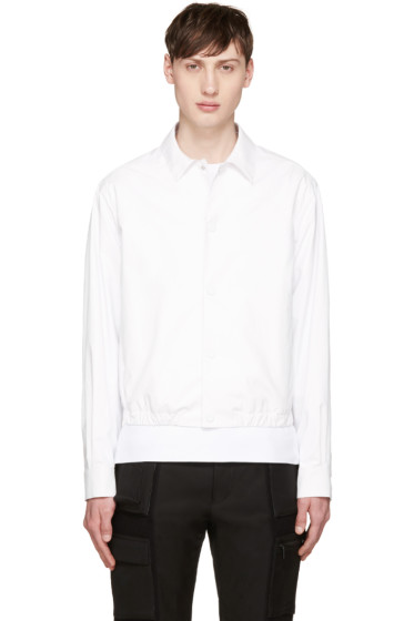 Calvin Klein Collection - White Coated Jacket