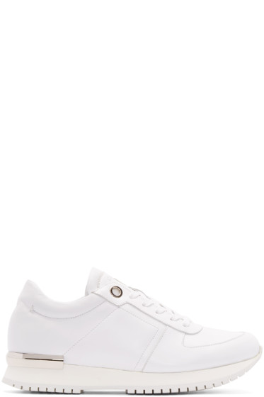 Calvin Klein Collection - White & Silver Leather Sneakers