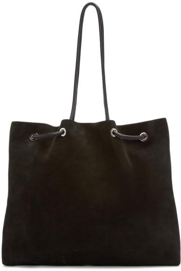 Costume National - Black Suede Tote Bag