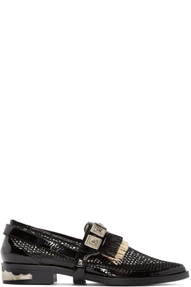 Toga Pulla - Black Fringed Harness Loafers