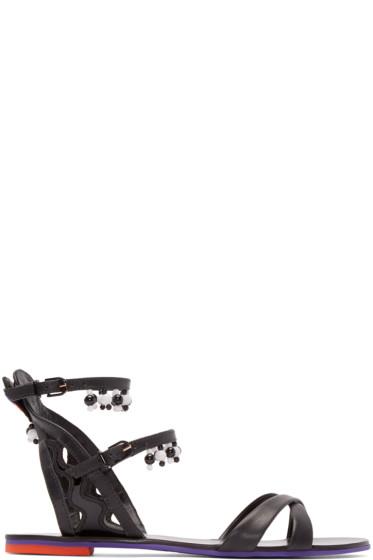 Sophia Webster - Black Leather Nereida Sandals