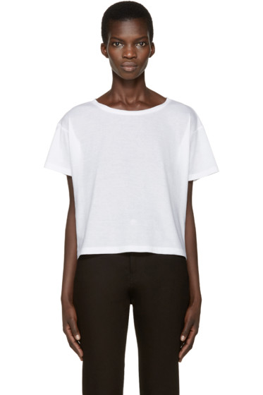 Anthony Vaccarello - White Boatneck T-Shirt
