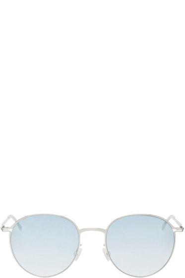 Mykita - Silver & Blue Olsen Sunglasses