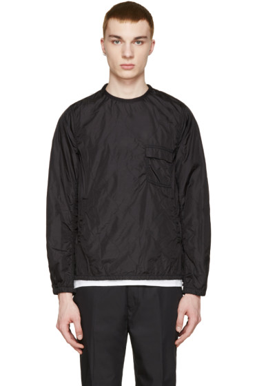 08Sircus - Black Quilted Nylon Pullover