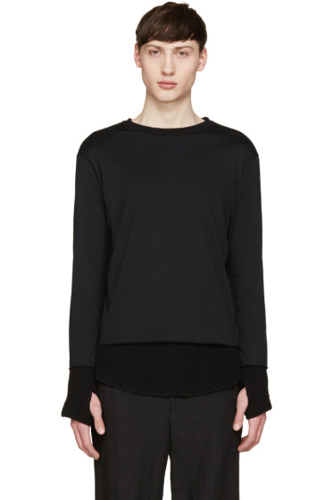 Facetasm - Black Layered Waffle T-Shirt