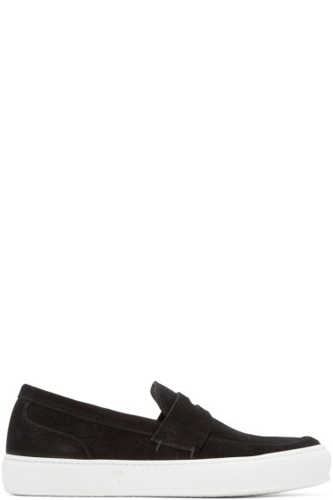 Robert Clergerie - Black Suede Loafer Sneakers