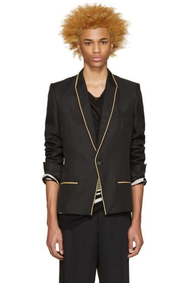 Haider Ackermann - Black & Gold Linen Blazer