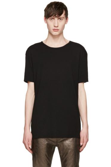 Haider Ackermann - Black Silk T-Shirt