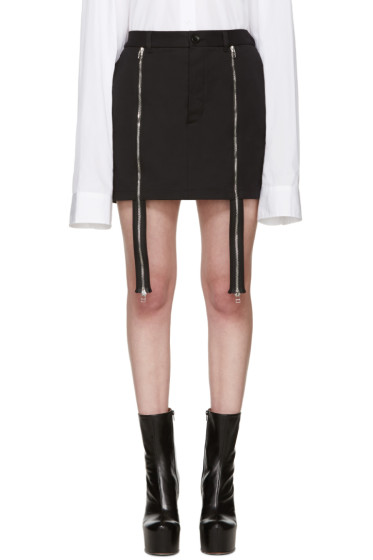 Hood by Air - Black Double Zip Miniskirt