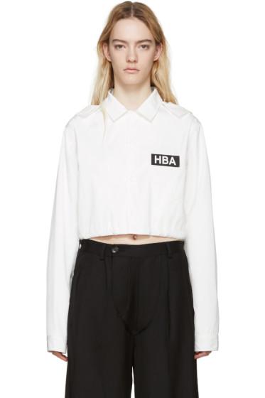 Hood by Air - White Nylon Logo Shirt