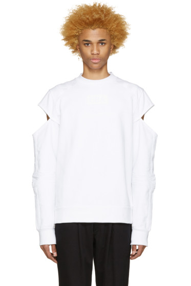 Hood by Air - White Logo Fracture Pullover