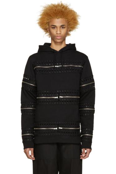 Hood by Air - Black Detachable Zipper & Grommet Hoodie